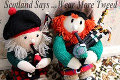 Wear More Tweed 2 (Save The Last Ocean) Tags: newzealand canon scotland stuffed knitting doll dolls kilt pipes scottish nz bagpipes kilts pipers tweed 2012 scotiish
