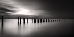 minnis bay (richard carter...) Tags: longexposure sunset sea seagulls monochrome sepia canon kent widescreen crop groyne minnisbay eos5dmk2