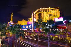The Strip (Shaun Jones LA) Tags: street vegas trees color building tree colors beautiful architecture night buildings gold hotel golden colorful pretty lasvegas nevada casino casinos