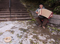 Street musician in Oslo (harald.bohn) Tags: autumn norway accordion hst streetmusician trekkspill gatemusikant
