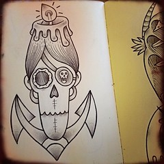 skull anchor pirate candle (Luca Molinas) Tags: art tattoo illustration skull luca candle lifestyle pirate anchor disegni disegno ilustraes illustracion illustrazione molinas lillustration molinasluca lucamolinas