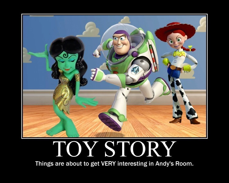 TOY STORY Meanwhile In Andys Room DarkJediKnight Tags Startrek Green Classic Girl