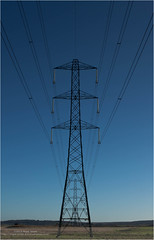 Powering to Infinity (Nigel Jones QGPP) Tags: blue sky plant abstract color green tower industry field lines silhouette electric metal grid high construction energy industrial pattern technology power steel horizon over conservation utility cable symmetry line pylon equipment generator national wires frame electricity symmetrical poles framework electrical generation distribution volts supply voltage insulators generating