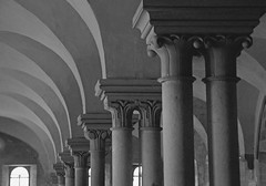 Kloster Maulbronn  Laienrefektorium  UNESCO Weltkulturerbe I (Renate Dodell) Tags: arch arches unesco monastery column unescoworldheritage kloster 2012 weltkulturerbe bogen sule romanisch romanik maulbronn laienrefektorium dorenawm renatedodell