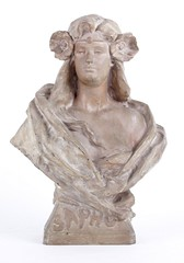 "A Large Art Nouveau Bust • <a style=""font-size:0.8em;"" href=""http://www.flickr.com/photos/92426936@N05/8337460983/"" target=""_blank"">View on Flickr</a>"