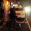 'Cranky' the Circle Bike Dude Rear Ends a Cadillac Full of Gangstas (Viewminder) Tags: wickerpark chicago love peace harmony karma kindness cranky playingintraffic milwaukeeavenue soulpatrol viewminder streetmojomagic thecirclebikedude