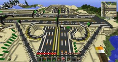 scrap104's Minecraft Highway: M104-M204 Interchange (scrap104) Tags: road highway onramp mc freeway interstate roads offramp cloverleaf scrap104 minecraft