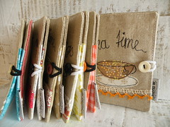 tea wallets (monaw2008) Tags: tea handmade wallet linen applique teabag teawallet monaw monaw2008