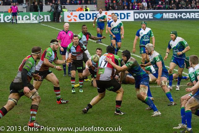Mark Lambert takes a tackle