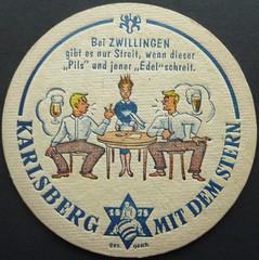 Bierdeckel / Karlsberg Bier / Zwillinge (micky the pixel) Tags: germany logo deutschland ephemera beermat bier saarland bierdeckel zwillinge brauerei karlsberg homburg sternzeichen
