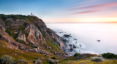 where the land ends and the sea begins... (FredConcha) Tags: sunset lighthouse seascape portugal nikon cabodaroca d90 leebigstopper fredconcha