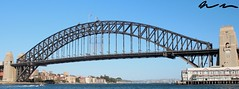 Sydney Harbor Bridge (BROWNasthecolorJASONasthekiller) Tags: new old travel bridge vacation holiday wales architecture giant harbor big arch steel south famous sydney australia landmark historic explore nsw anchor huge gigantic spanning intresting