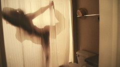 Caught Doing Naked Yoga In The Shower! (ViewsForMe) Tags: silhouette yoga naked shower sketch funny comedy doing caught the in