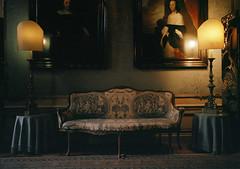 Museum Couch, Amsterdam (Cameron Mattis) Tags: holland color film netherlands amsterdam museum analog dark moody fuji kodak iii mattis couch hasselblad ii cameron 400 690 gw portra fujinon gw690 imacon flextight cameronmattis
