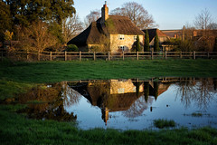 Big puddle & cottage (lovestruck.) Tags: county uk trees winter england house reflection home water rural puddle countryside sony cottage fields wiltshire dwelling altonbarnes altonpriors honeystreet 2013 rx100 nocy noncy dscsonyrx100
