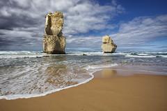 Limestone Kings (MarkMeredith) Tags: ocean sea beach weather surf australia victoria cliffs limestone coastline greatoceanroad twelveapostles southernocean pillars rugged stacks canonef1740mmf4l