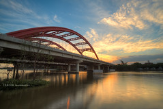 Ong Lon Bridge II (Ton Ten) Tags: longexposure sunset water colors landscape saigon starts q7 tonten phumyhung