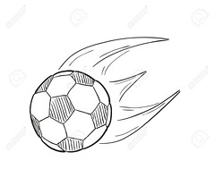 sketch of the flying football ball with flames (supernoviy) Tags: ball soccer football sport background equipment motion game flame flying leisure circle play sphere fly fun team competition championship goal single move kick pentagon recreation traditional world activity classic hobby isolated sketch drawing vector doodle white black drawn chalk art hand cute handdrawn pencil pen free draw image illustration cartoon