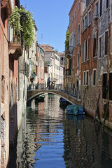 Day 4. Canals in Venice (steven.kemp) Tags: venice italy canal gondola water river sea st marks square boat architecture building bridge tower church reflection