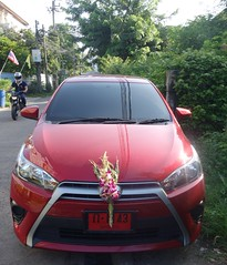 bless my new car (the foreign photographer - ) Tags: dscaug212016sony new car red plates sprig orchids soi phahoyolthin 63 bangkhen bangkok thailand sony rx100