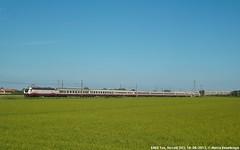 E402B (MattiaDeambrogio) Tags: treno treni train trains e402b frecciabianca fb vercelli risaie risaia