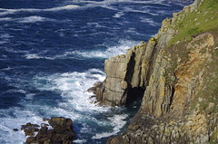 Rock arch (Sundornvic) Tags: cornwall kernow cliffs rock stone granite sea water waves foam spray weathering landsend