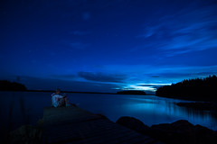 Noctilucent (Superfantti) Tags: nikon d7200 lake finland guy am boy man blue sky skies noctilucent feels dark shine