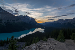 Peyto Lake Sunset (donrawson) Tags: peytolake sunset canadianrockies lake dusk