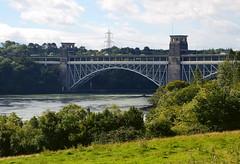 The Britannia Bridge (Snapshooter46) Tags: britanniabridge menaistraits roadbridge railwaybridge combinedbridge twotierbridge robertstephenson civilengineer civilengineering steeltrussarchbridge holyheadrailway