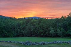 Sunset behind Pack Monadnock (LucienTj) Tags: wilton trees mountain stonewall packmonadnock sunset graywood field