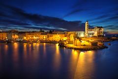 Trani Blue Hour (hapulcu) Tags: bluehour adria adriatic apulia italia italie italien italy mediterranean puglia trani dusk spring sunset