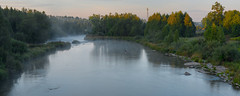 Early morning fly fisherman (virgil martin) Tags: sunrise panorama landscape grandriver fergus wellingtoncounty ontario canada olympusomdem5 oloneo microsoftice gimp