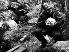 Can you feel it coming in the air tonight (elektroapa) Tags: postapocalypse gas masque skull bw mask