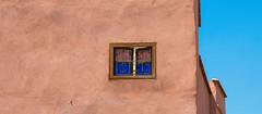 The Lonely Window... (Stupeflipvite) Tags: morocco marrakech wall walls sky blue orange window glass color colors street travel africa desert maroc mur ciel bleu couleur verre vitre voyage photo picture afrique maghreb arab arabe arabic architecture architect beautiful