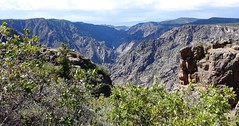Black Canyon of the Gunnison National Park (lhboudreau) Tags: outdoors outdoor mountain mountains cloud clouds landscape landscapes southrim rocks blackrocks blackrock colorado usa shadow shadows mountainpeaks rimdrive rimdriveroad blackcanyon gunnison blackcanyonofthegunnison westerncolorado park nationalpark blackcanyonofthegunnisonnationalpark gunnisonriver canyon canyons rockformation rockformations gorge