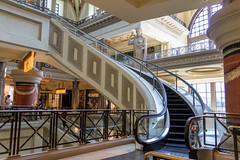 Caesars Palace, Curved, Spiral Escalator (champnet) Tags: canon lasvegas 18135mm stm 80d