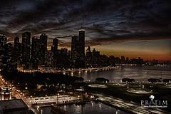 Chicago @ dawn (Pr@tim - Trying something new :)) Tags: chicago skyline pratim pratimbiswas lake michigan city skyscrapper highraise