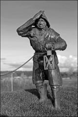 one of two inspectors (Elly Snel) Tags: ameland eiland island nl dike dijk inspectors wachters sculpture standbeeld dedijkwachters ballumerbocht