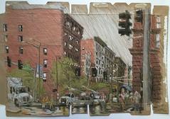 St Louis - Washington Ave at Tucker Bvld. (Peter Rush - drawings) Tags: usa missouri washingtonave cerealbox drawing sketch peterrush stlouis