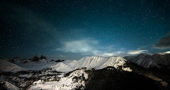 Alps mountains (Zeeyolq Photography) Tags: albiez albiezmontrond alps landscape milkyway montagneux mountains nature night savoie snow stars winter auvergnerhnealpes france