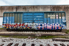 (o texano) Tags: houston texas graffiti trains freights bench benching hiwix