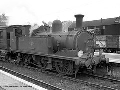 20/06/1963 - Ryde St Johns, Isle of Wight. (53A Models) Tags: britishrailways adams lswr southernrailway o2 044t w21 sandown steam passenger rydestjohns isleofwight train railway locomotive railroad