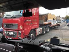 J Blakey Volvo - Heavy Haul Truck STGO CAT2 (Paul.Bevan) Tags: fh 750 volvo 6wheeler frederickstreet birchills walsall jbtransport haulage redlorry kelsa jbhaulage sprinterdashboard cabview van freight cargo uk