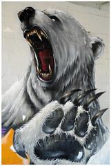 """Parking Garage Art"" - Collingwood, Melbourne (TravelsWithDan) Tags: art mural grafitti streetart polarbearpainting painting parkinggarage artinaparkinggarage publicart artinpublicplaces collingwood melbourne australia canong16"