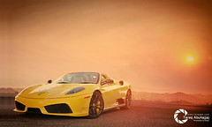 Ferrari 16M Scuderia Spider 499 (Tareq Abuhajjaj | Photography & Design) Tags: auto sunset sky italy orange cloud sun cars car yellow race speed fire spider italian top dream fast sunny racing arab saudi arabia riyadh v8 ksa engin ferrari16m scudria tareqdesign tareqphcom