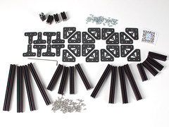 OpenBeam Starter Kit - Black Aluminum (adafruit) Tags: robotics 1114