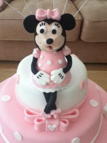 Astonishing Minnie Mouse Cake Topper A Photo On Flickriver Funny Birthday Cards Online Eattedamsfinfo
