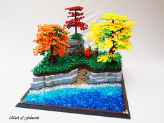 CCCX A Break by the Lake (Mark of Falworth) Tags: trees tree castle water forest landscape lego medieval moc cccx