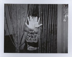 LB (Queen of Anti-social) Tags: blackandwhite film polaroid photography hand nj tattoos instant fujifilm peel outkast blackandwhitephotography peelapart