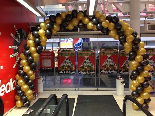Ballonboog 8m Sony thema James Bond Mediamarkt Rotterdam